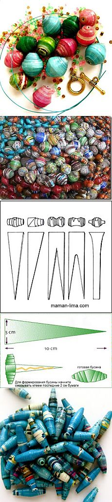 """Costume jewelry the hands or how to make the African beads   """"Я-МАМА"""""""