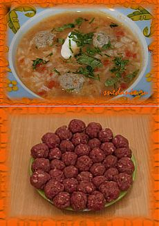 Rice and quenelles soup | Snedaniye